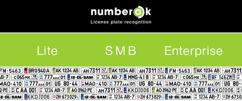 License Plate Recognition - NumberOk - Lite, SMB, Enterprise