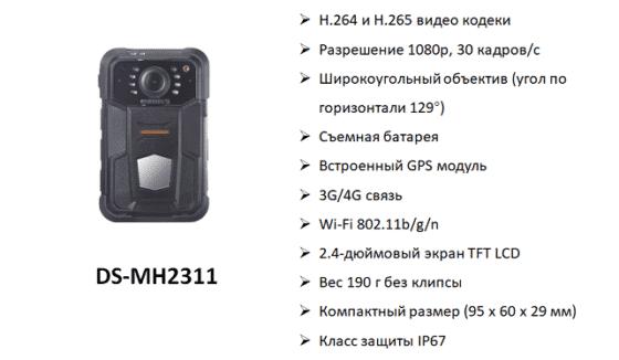 Hikvision - DS-MH2311 технические характеристики